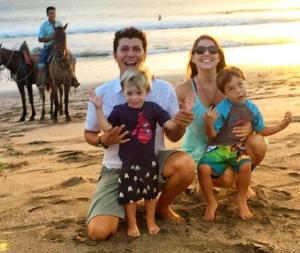 baldo and family on beach