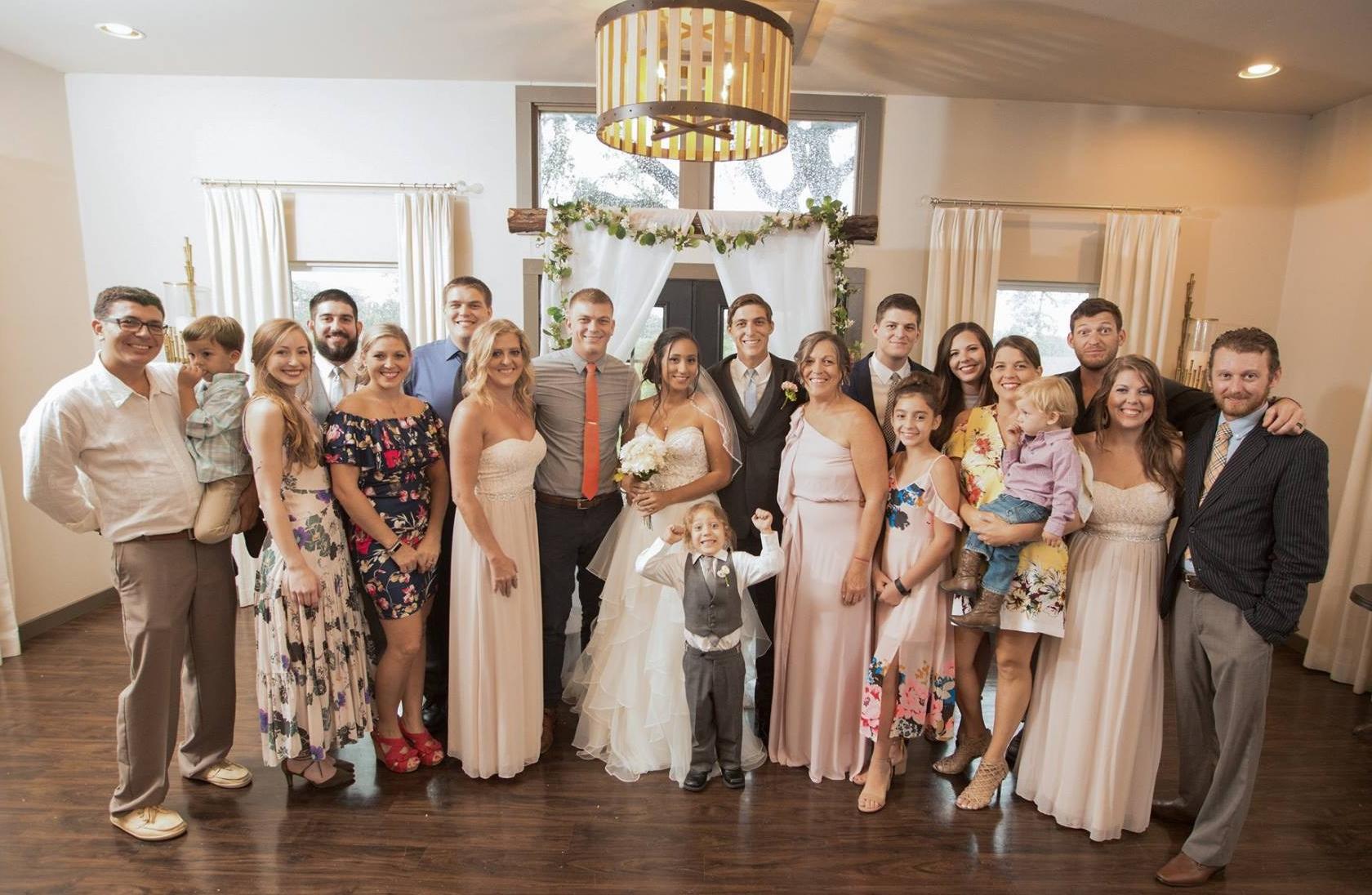 family at lukes wedding